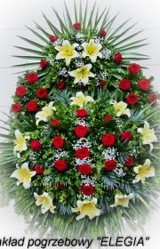 Wieniec pogrzebowy zrobiony w biuro pogrzebowe elegia warszawa