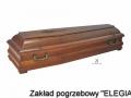 Dębowa trumna pogrzebowa w usługi pogrzebowe warszawa