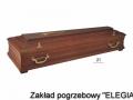 Ciemno brązowa trumna pogrzebowa dla elegia usługi pogrzebowe
