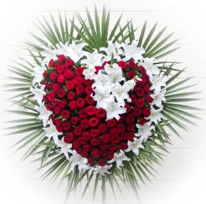 Wieniec pogrzebowy serce do pogtrzebu w warszawie